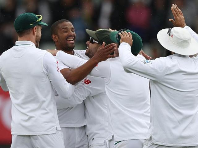 Vernon Philander picked up his 10th five-wicket haul in Tests.