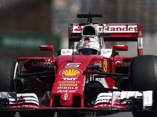 Ferrari driver Sebastian Vettel during Friday's practice at the Interlagos race track in Sao Paulo.