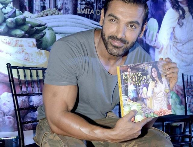 John Abraham attended a book launch event in Mumbai.