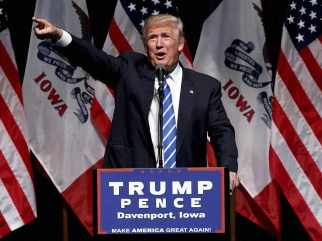 US President-elect Donald Trump made 'several positive comments about India on the campaign trail', according to South Asian issue expert Lisa Curtis.(AP File Photo)