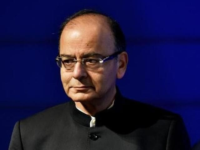 Finance minister Arun Jaitley addresses a press conference in New Delhi.