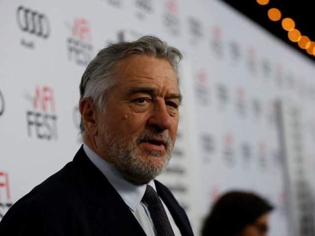 Cast member Robert De Niro is interviewed at the premiere of The Comedian during AFI Fest at the Egyptian Theatre in Los Angeles, California.