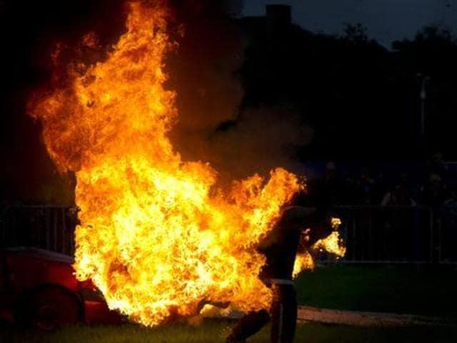 Self immolation attempt