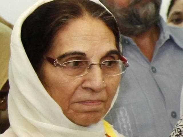 AAP has fielded Sarabjit Kaur, 71, wife of former finance minister in the Akali government Capt Kanwaljit Singh, from Dera Bassi.