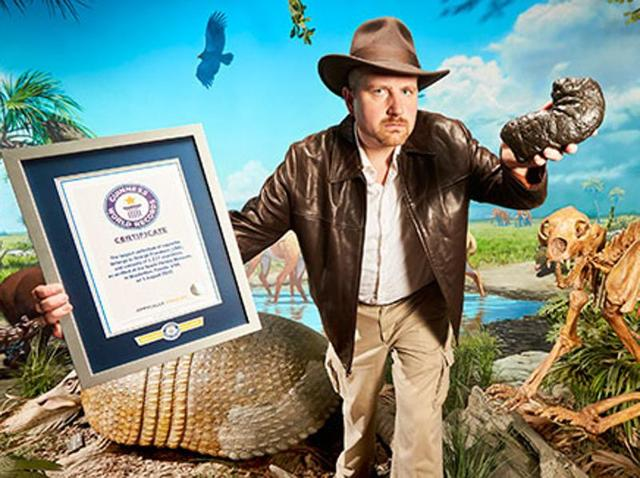George Frandsen entered the new Guinness World Records 2017 Edition with the world's largest collection of coprolite, otherwise known as fossilised faeces.