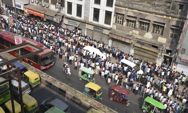 bank queue,Sagar,dies