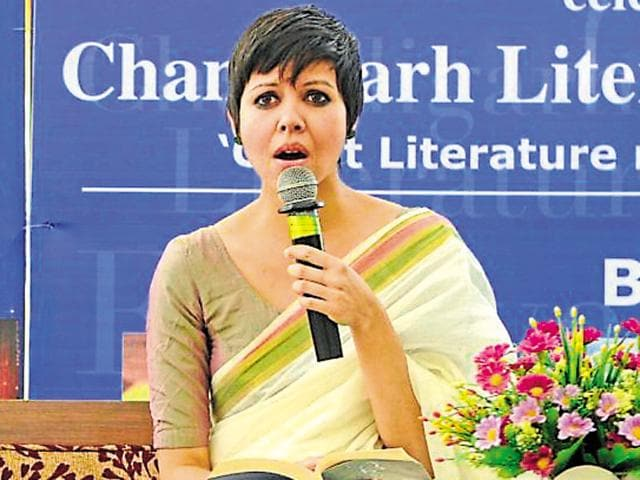 (From left) Writer, editor Rahul Soni and Janice Pariat during Chandigarh Literature Festival 2016 at Chandigarh Club on Saturday.
