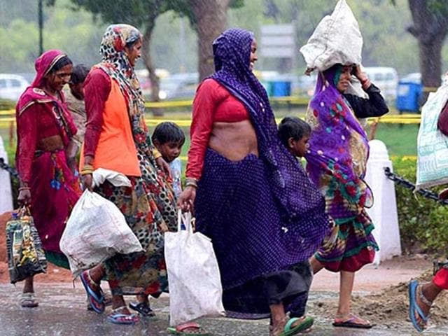 Migrant labourers across Delhi have been hit the hardest by the severe cash crunch brought on by demonetisation.