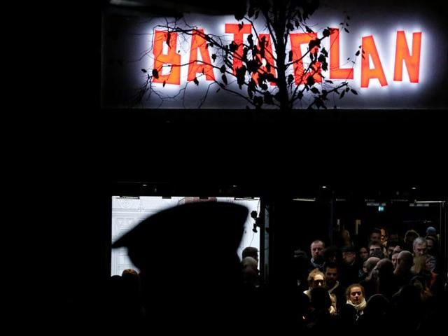 People leave the Bataclan concert hall in Paris, France, November 12, 2016, after rock star Sting performed a special reopening concert one year after the deadly Paris attacks.