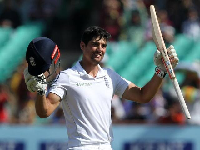 Alastair Cook surpassed Don Bradman's tally of centuries in Test cricket during the game in Rajkot against India.