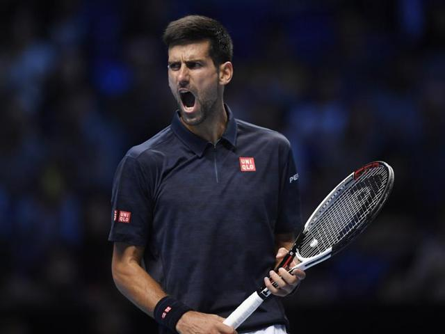 Novak Djokovic defeated Dominic Thiem 6-7 (10/12), 6-0, 6-2 at the ATP World Tour Finals.