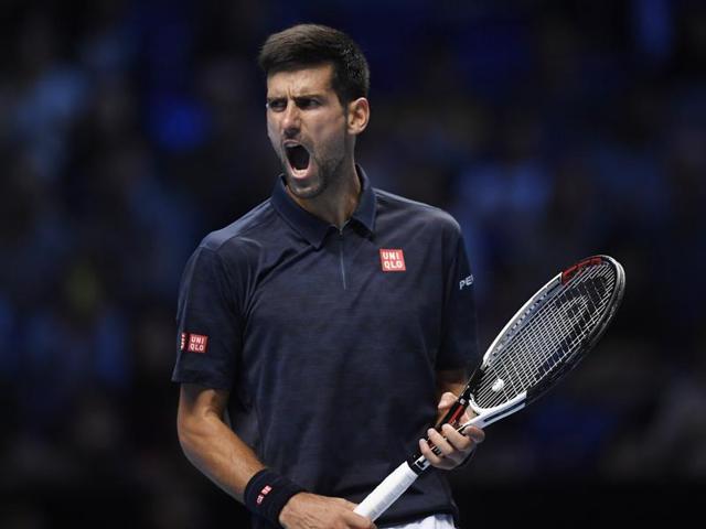 Novak Djokovic defeated Dominic Thiem 6-7 (10/12), 6-0, 6-2 at the ATP World Tour Finals.