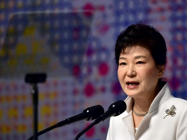 South Korean President Park Geun-hye delivers a speech during a ceremony to mark the anniversary of the 1919 independence movement against Japanese rule over the Korean peninsula, in Seoul March 1, 2016.(REUTERS)