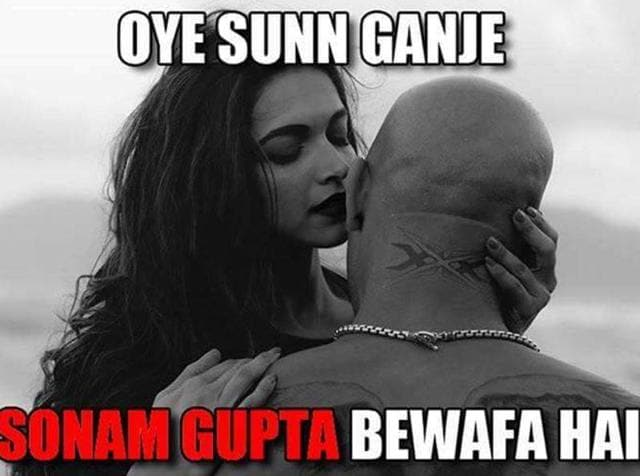A poster of the movie, Sanam Bewafa, has seen a funny rendition, thanks to Internet trolls.