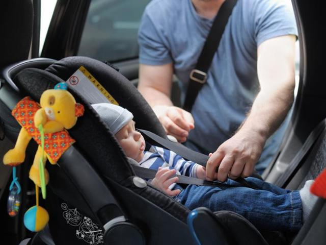 Very young babies whose neck muscles are not strong enough to stop their heads from flopping forward could stop breathing when made to sit in cars for a long time.