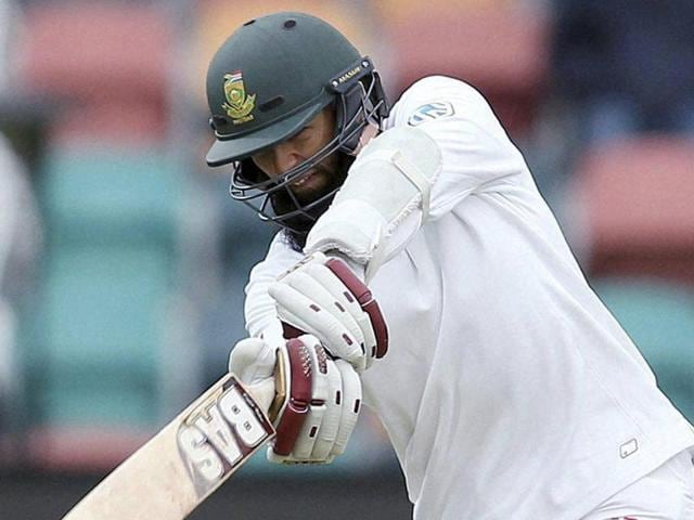 South Africa's Hashim Amla plays a shot during South Africa's match against Australia.