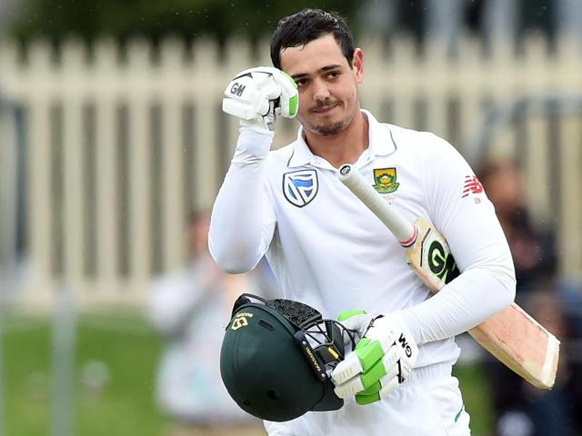 Quinton de Kock is averaging 84 in the current series batting at No.7 following scores of 84 and 64 in the crushing first Test victory in Perth.