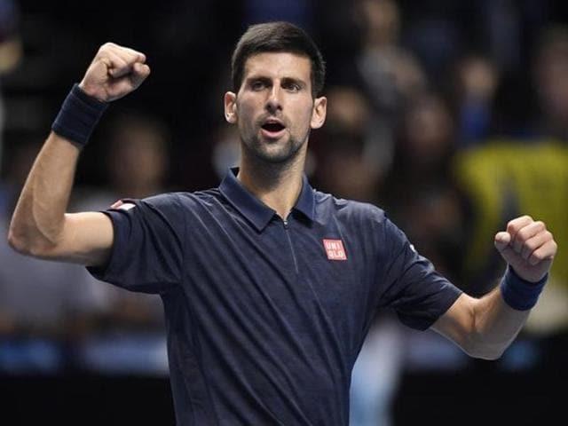 Britain Tennis - Barclays ATP World Tour Finals - O2 Arena, London - 13/11/16 Serbia's Novak Djokovic celebrates winning his round robin match with Austria's Dominic Thiem Action Images via Reuters / Tony O'Brien Livepic