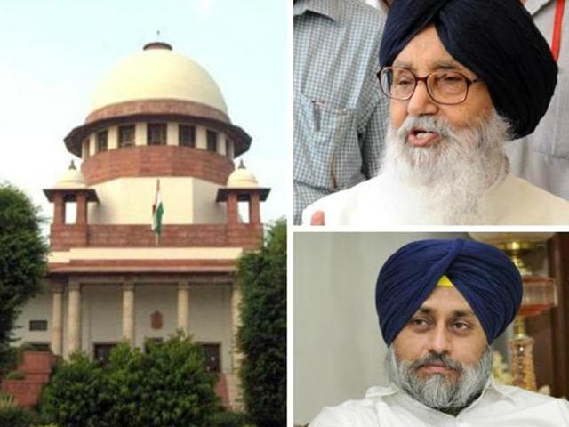SC to hear a plea seeking criminal contempt proceedings against Punjab CM Parkash Singh Badal and his son and deputy Sukhbir.