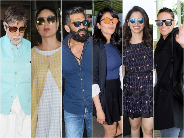 Bollywood celebs sport reflector sunglasses with panache.