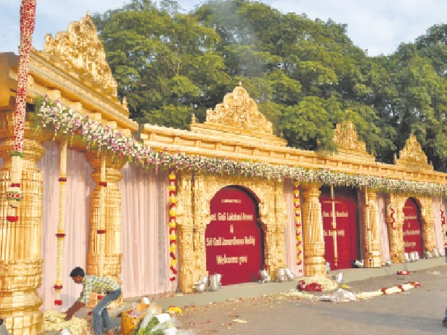 Preparations are in full swing for the wedding of Bellary mining baron G Janardhana Reddy's daughter.