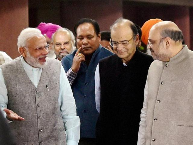 Lok Sabha Speaker Sumitra Mahajan chairs the meeting with all party leaders at Parliament House on November 14, 2016.