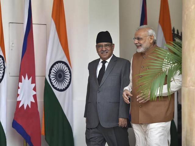 Prachanda,Nepal premier,PM Narendra Modi