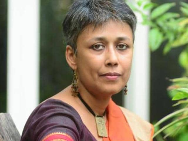 Delhi University professor Nandini Sundar during an interview at her residence in October 2016.  Sundar and five others have been charged with the murder of a villager in Sukma district.