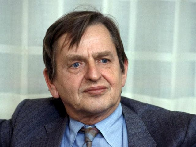 Swedish Prime Minister Olof Palme was gunned down in the street after leaving a Stockholm cinema with his wife, a killing that sent shockwaves through the tranquil Scandinavian nation.