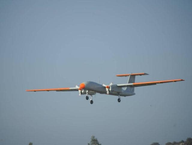 The test flight took place from Aeronautical Test Range in Chitradurga (250 km from Bangalore), which is a newly developed flight test range for the testing of UAVs and manned aircraft.