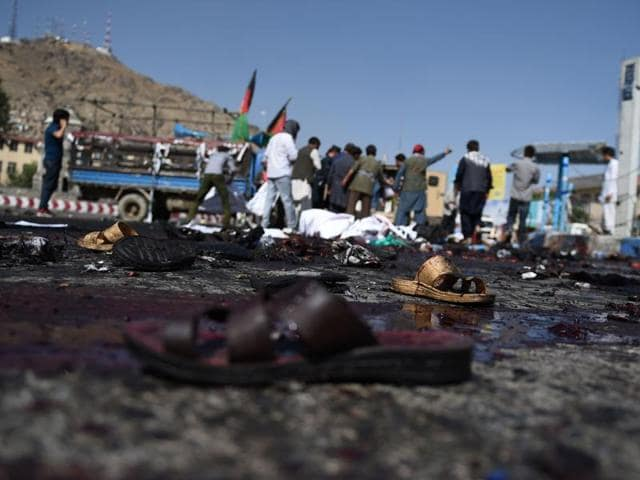 A suicide attacker on foot targeted a vehicle belonging to security forces in downtown Kabul, leaving four people dead and 11 others wounded.