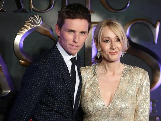 London : Actor Eddie Redmayne, right, and his wife Hannah Bagshawe pose for photographers upon arrival at the premiere of the film Fantastic Beasts And Where To Find Them.
