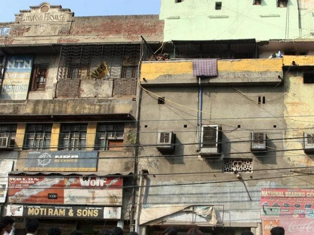 The kothas on  GB Road, Delhi's red light area.