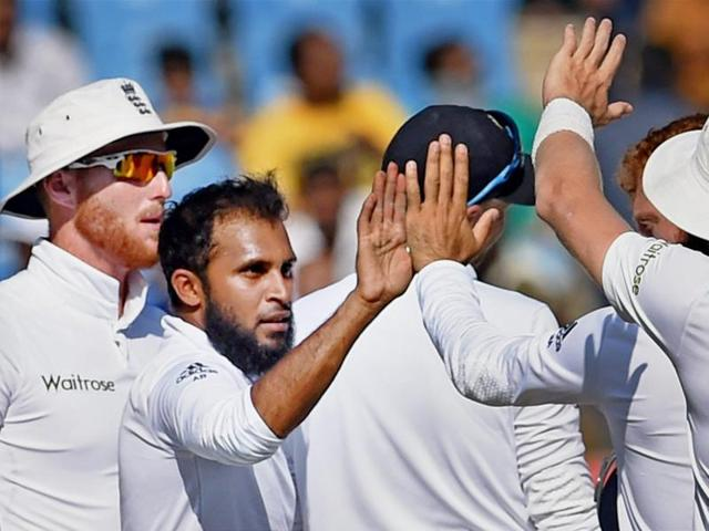 Adil Rashid took seven wickets to steal a march over Indian spinners in the drawn Rajkot Test.