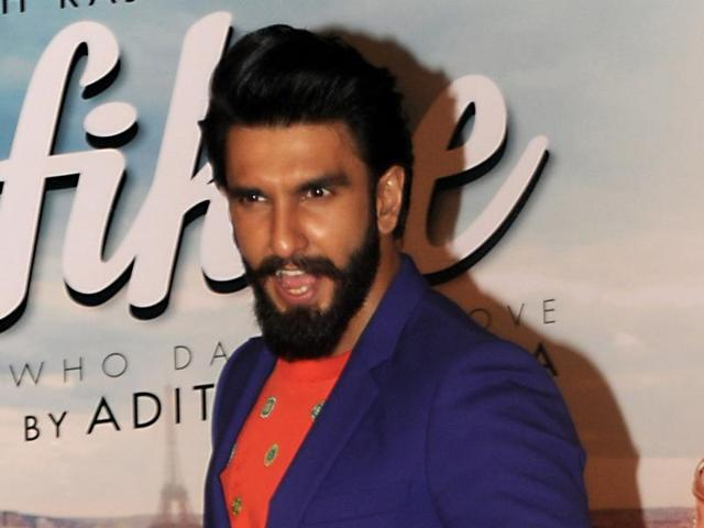 Indian Bollywood actor Ranveer Singh attends a promotional event for the upcoming film