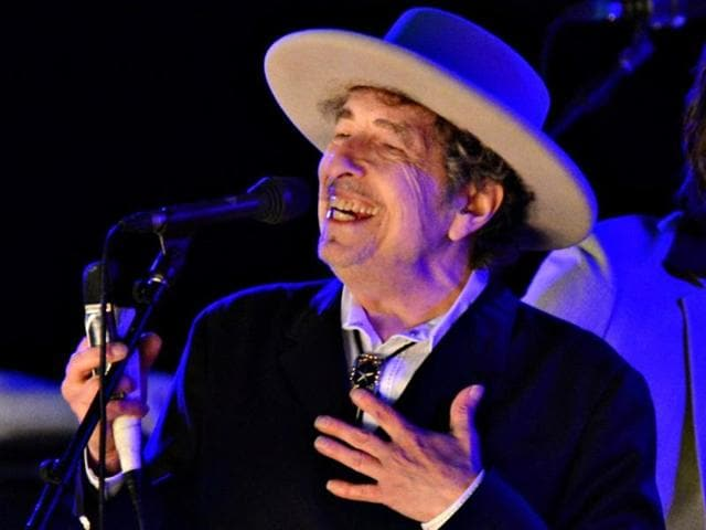 In this file photo, Bob Dylan performs in Los Angeles  in 2012. Dylan, was named the winner of the 2016 Nobel Prize in literature on October 13, 2016.