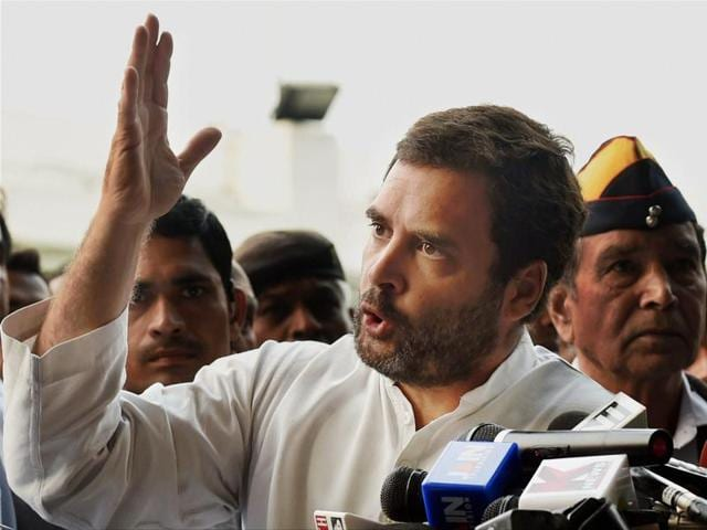 Rahul pointed out how each and every citizen in the country was suffering today because of demonetisation and have been put to immense hardships.