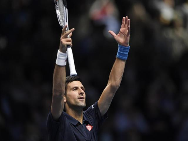 Novak Djokovic improved his career record to 8-0 against Milos Raonic as he entered the semi-finals of the ATP finals.