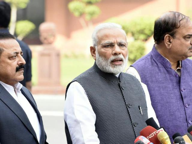 Prime Minister Narendra Modi's mother Hiraba Modi reached Oriental Bank of Commerce branch in Raysan near Gandhinagar.