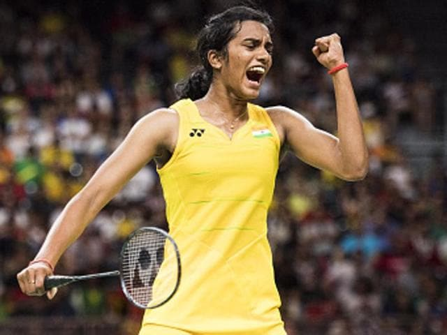 PV Sindhu came from a game down and won two thrilling sets to emerge victorious with an 18-21, 22-20, 21-17 scoreline.