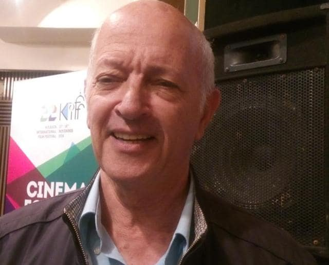 Israeli filmmaker Dan Wolman at the 22nd Kolkata International Film Festival.