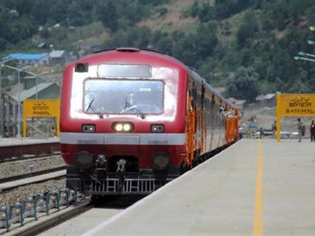 The rail service resumed from Budgam to Srinagar Railway stations after completion of necessary restoration work on damaged infrastructure and tracks.