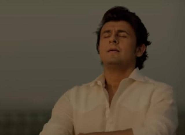 Singer Sonu Nigam in a shot from his new video narration on demonetisation titled Kaagaz.