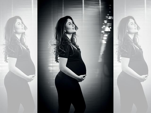 Kareena Kapoor Khan becomes the first Indian actress to pose in all her eight-month pregnant glory for this exclusive HT Brunch photoshoot(Rohan Shrestha)