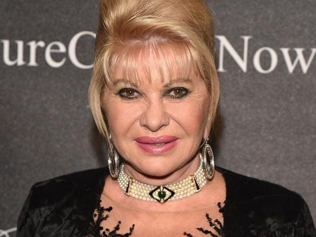 Ivana Trump at the Angel Ball hosted by Gabrielle's Angel Foundation in New York City in October 2015. Czech President Milos Zeman on November 16, 2016, backed Ivana's idea to be the US ambassador to Czech Republic.