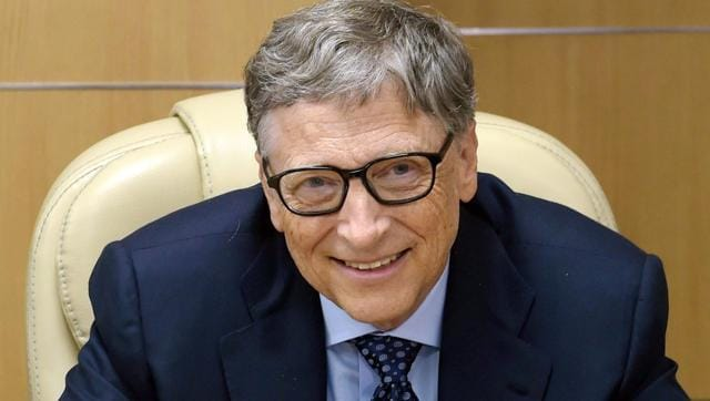 Bill Gates, co-chairman of the Bill & Melinda Gates Foundation, during a meeting with Union minister Ravi Shankar Prasad (not in picture), in New Delhi on Thursday.(PTI)