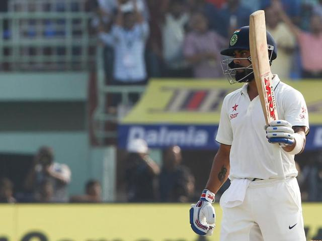 Virat Kohli finally broke his jinx against England as he slammed his 14th Test ton and shared a 226-run stand with Cheteshwar Pujara in Vizag.