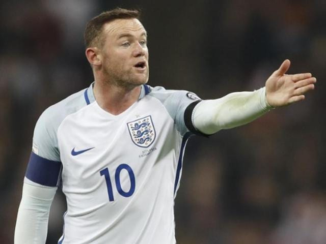 England's Wayne Rooney during his team's match against Scotland.
