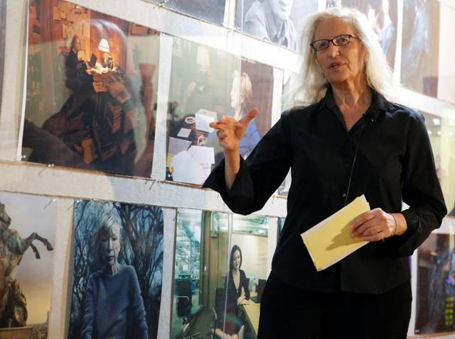 Photographer Annie Leibovitz speaks about her new exhibit 'WOMEN: New Portraits' commissioned by the UBS in New York.