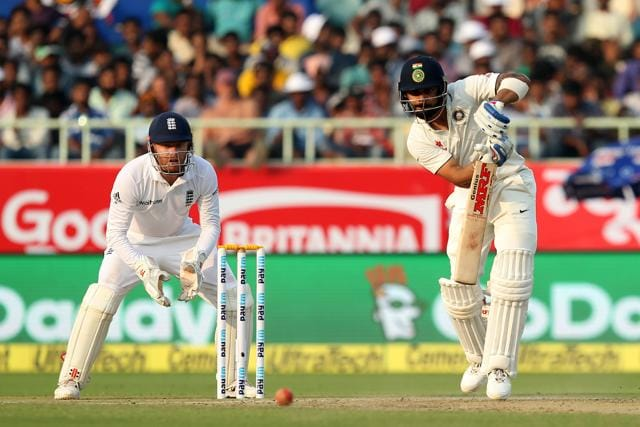 Virat Kohli notched up his 14th Test century as his 226-run stand with Cheteshwar Pujara helped India to 317/4 at the end of day one.